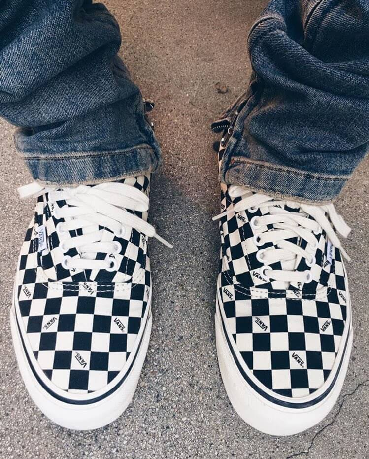 vans checkered sneakers