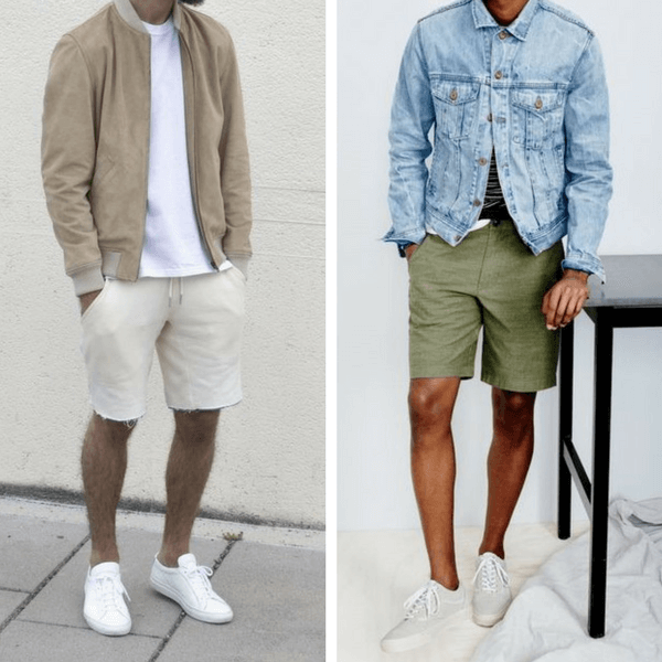 4269868a553e5 Bomber jackets are still all the rage, so if you can find one thin enough,  pick one up in something neutral, like cream. Unlined denim jackets are  also a ...
