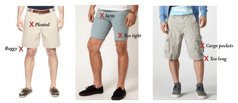 ace0b0fbc6 ... way a pair of shorts should fit, the length, and the different styles  to choose from, it's time to go over some of the do not do's of wearing  shorts.