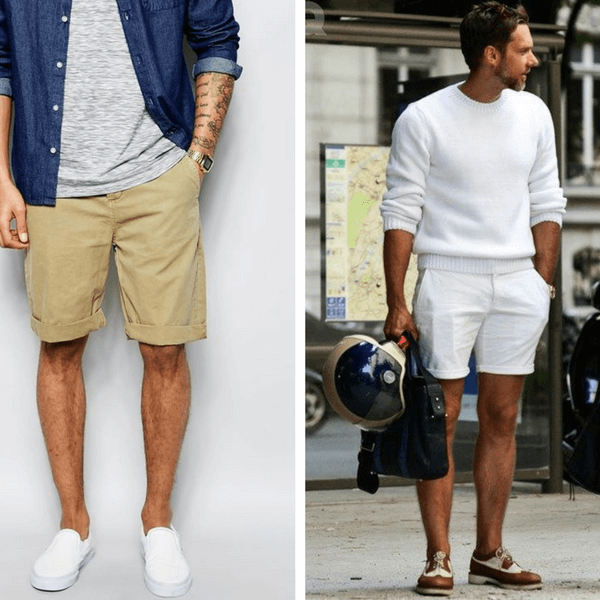 140b89966d If you're more on the modest side, opt for a pair of shorts that end right  at the knees. Otherwise, you can go up a few inches (not too much) right  above ...