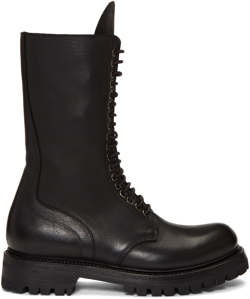combat boots for men rick owens